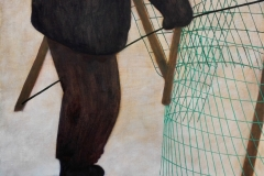 Het Raster - olie op houten paneel - 40cm x 30cm