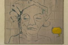Death face - oil on canvas